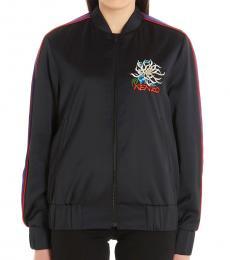 Kenzo Black Satin Bomber Jacket