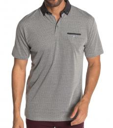 Grey Basketweave Classic Fit Polo