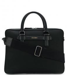 Dolce & Gabbana Black Logo Large Briefcase Bag