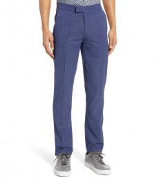 Blue Slim Fit Tech Suit Trousers