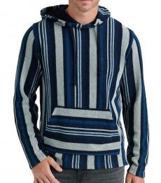 Dark Blue Striped Baja Pullover