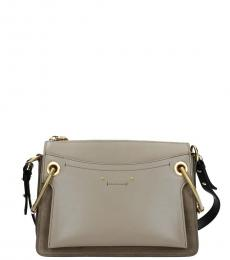 Grey Roy Medium Shoulder Bag