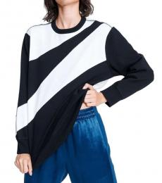 Rag And Bone Black White Abstract Zebra Sweatshirt