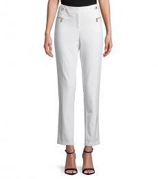Calvin Klein Soft White Slim-Fit Cropped Pants
