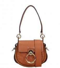Chloe Brown Tess Studded Mini Shoulder Bag