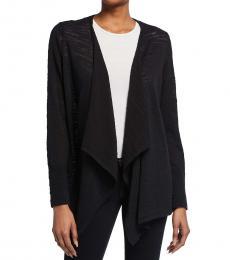 Michael Kors Black Drape Open-Front Cardigan