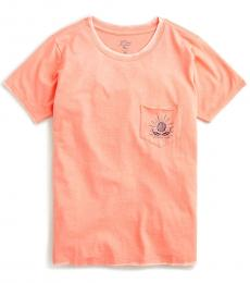 J.Crew Peach Shell Pocket Tee