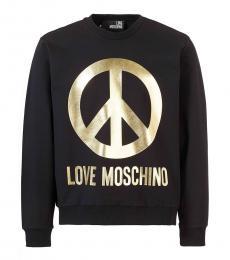 Love Moschino Black Graphic Logo Sweatshirt