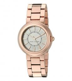 Marc Jacobs Rose Gold Courtney Logo Watch