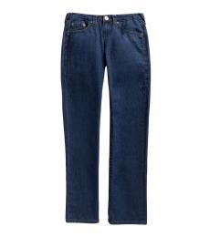 True Religion Boys Blue Rivet Straight Leg Jeans