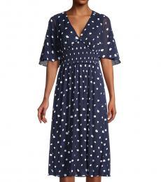 Diane Von Furstenberg Paint Dots Palm Spotted Dress