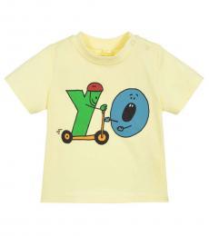 Stella McCartney Baby Girls Yellow Yo T-Shirt
