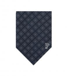Versace Black-Grey Printed Tie