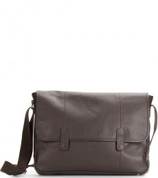 Cole Haan Chocolate Flap Large Messenger Bag