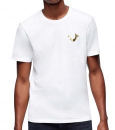 White Gold Buddha Logo T-Shirt