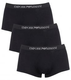 Emporio Armani Black 3 Pack Trunks