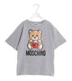 Moschino Girls Grey Teddy Toy T-Shirt