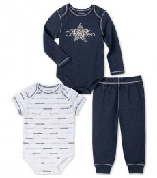 Calvin Klein 3 Piece Bodysuits/Pants Set (Baby Boys)