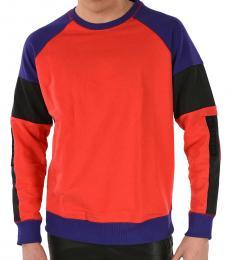 Diesel Red Color Block Sweatshirt