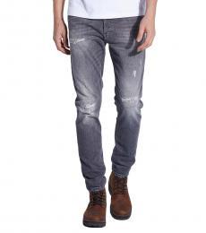 Diesel Grey Tapered Jeans