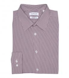 Pink Micro Print Slim Fit Shirt