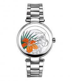 Versace Silver Mystique Hibiscus Watch