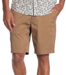 Michael Kors Brown Washed Poplin Shorts