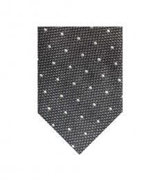 Tom Ford Dark Grey Textured Oval Dot Tie