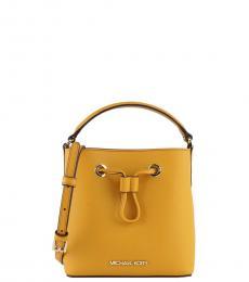 Michael Kors Mustard Suri Mini Bucket Bag