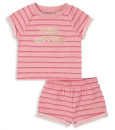 Juicy Couture 2 Piece T-Shirt/Shorts Set (Little Girls)
