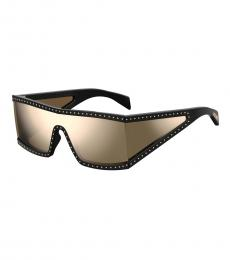 Moschino Black Square Wraparound Sunglasses
