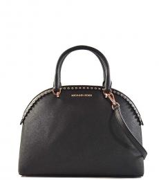 Michael Kors Black Emmy Scallop Medium Satchel
