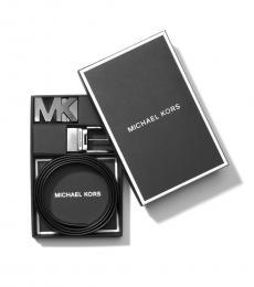 Michael Kors Black Two Buckle Reversible Signature Belt