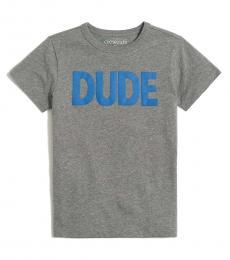 J.Crew Boys Heather Dolphin Graphic T-Shirt