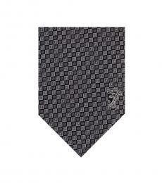Versace Grey Geometric Tie