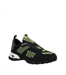 Prada Black Fluo Yellow Classic Sneakers