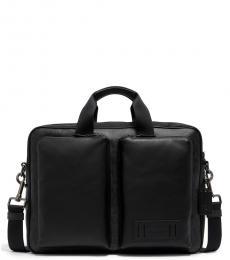 Coach Black Grey Rider Large Briefcase Bag