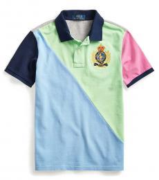 Ralph Lauren Boys Blue Lagoon Pony-Crest Polo