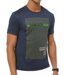 Michael Kors Navy Blue Graphic Jersey T-Shirt