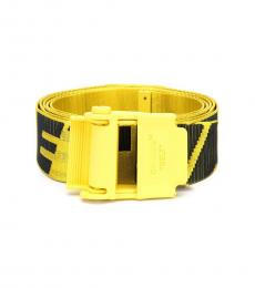 Off-White Yellow-Black Logo Industrial Belt