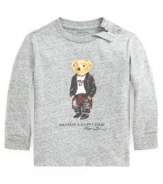 Ralph Lauren Baby Boys Vintage Salt & Pepper Bear T-Shirt