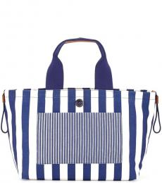 Blue Striped Large Tote