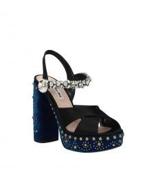 Blue Stones Embellished Heels