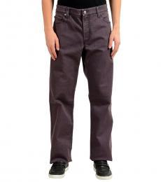 Armani Collezioni Dark Grey Stretch Straight Leg Jeans