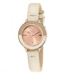 Furla Beige Exceptional Club Time Piece