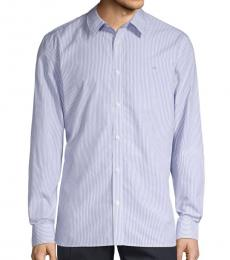 Violet White Extra-Fine Pinstripe Shirt
