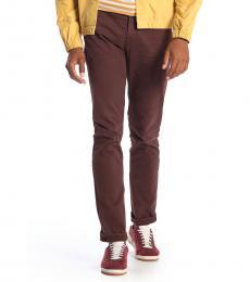 Dark Brown Adrien Slim Straight Jeans