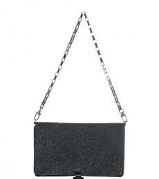 Black Sparkling Small Shoulder Bag
