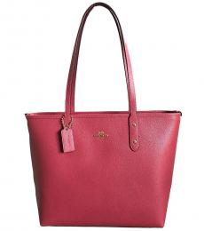 Strawberry City Zip Large Tote