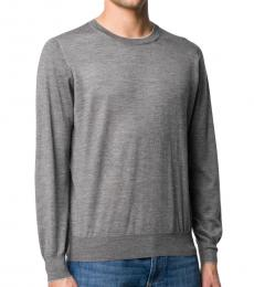 Grey Mottled Crew Neck Jumper